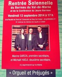 Conférence du Barreau du Val-de-Marne